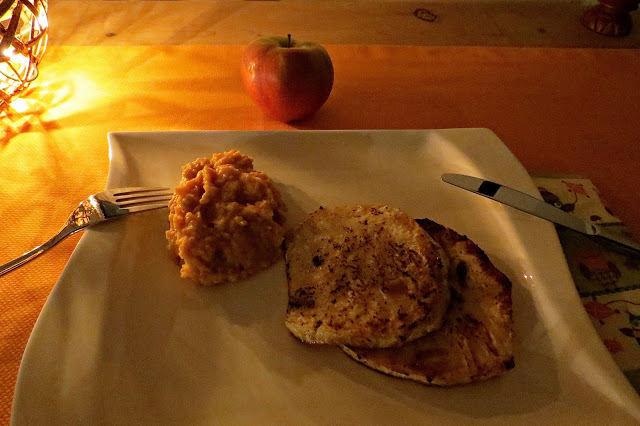 Sellerieschnitzel mit Süßkartoffelpürree