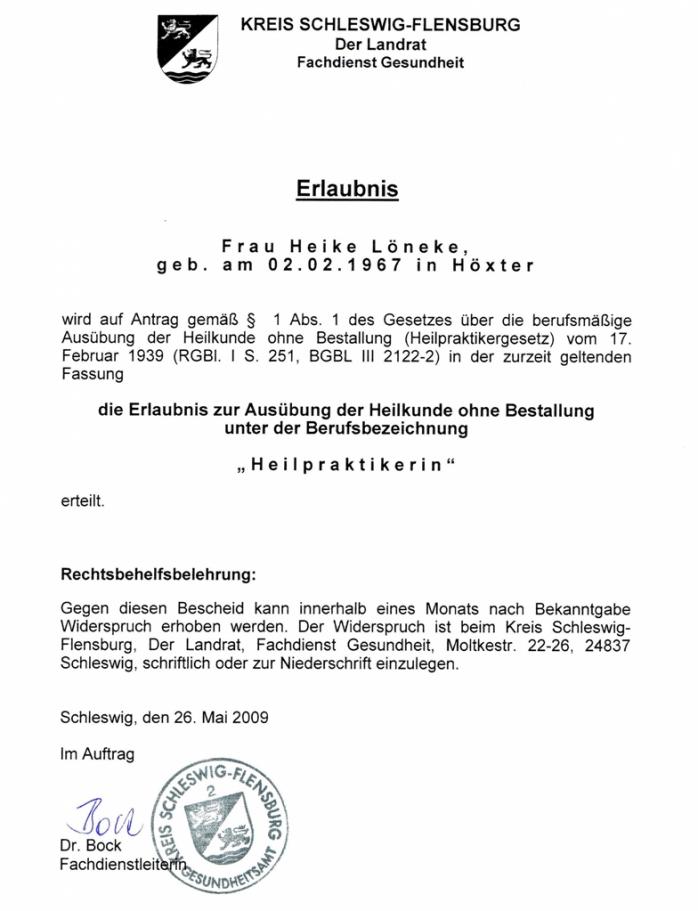 Heilpraktikererlaubnis-Homepage