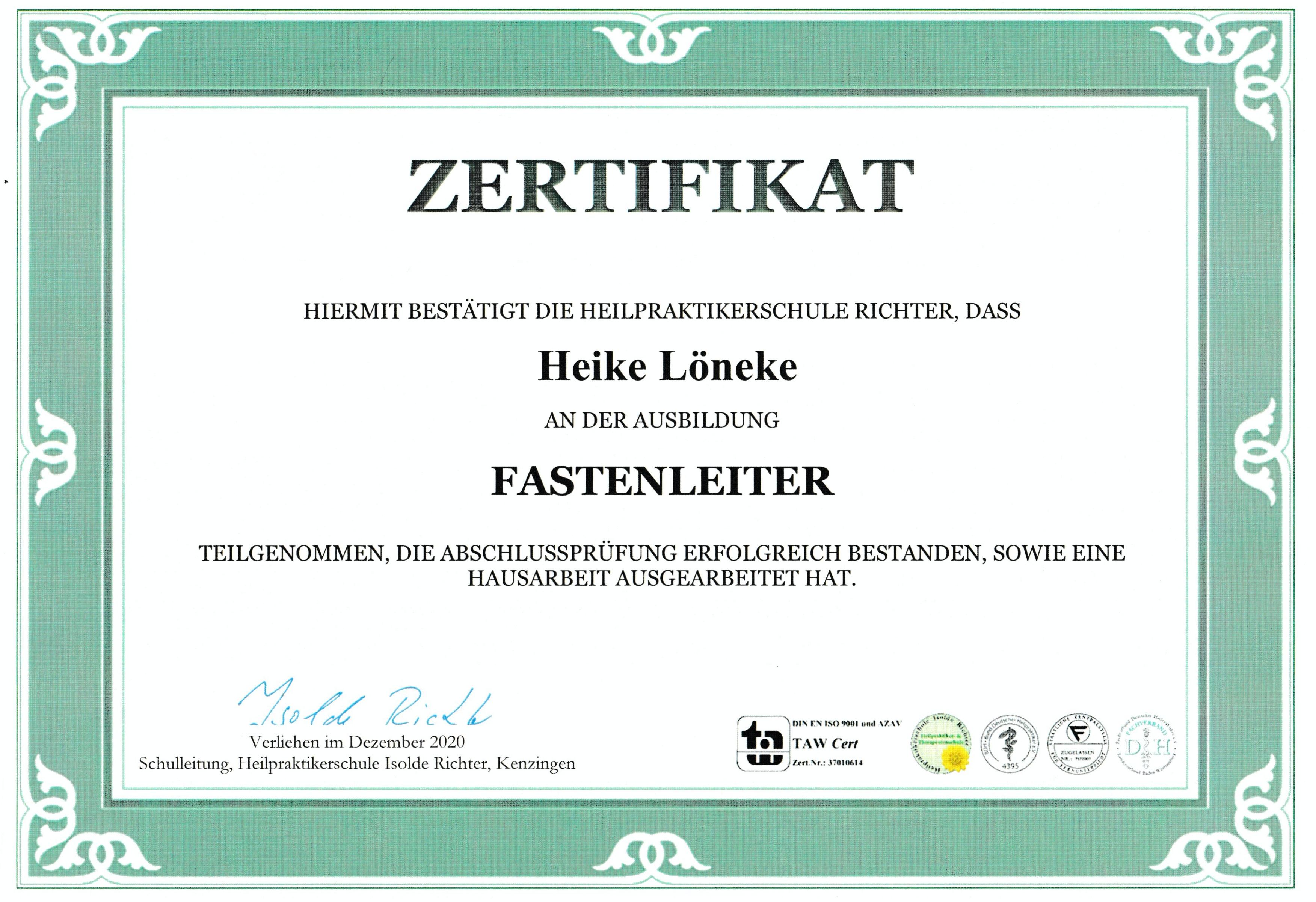 Fastenleiterin_Zertifikat